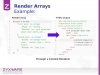 Render a Render array to HTML code